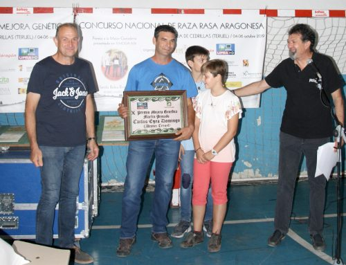 """La ganadería Carlos Manuel Egea Domingo recibe el X Premio a la Mejora Genética """"Martín Peinado"""", entregado por UPRA–Grupo Pastores en CEDRILLAS 2019"""